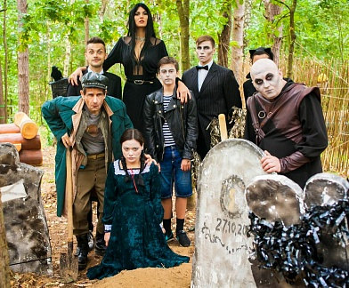 """Birthday with the Addams Family""  для компании ""Vizor Enteractive"""